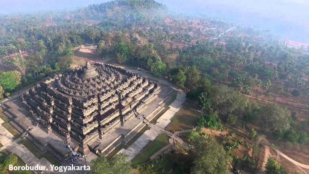 Borobudur temple panorama