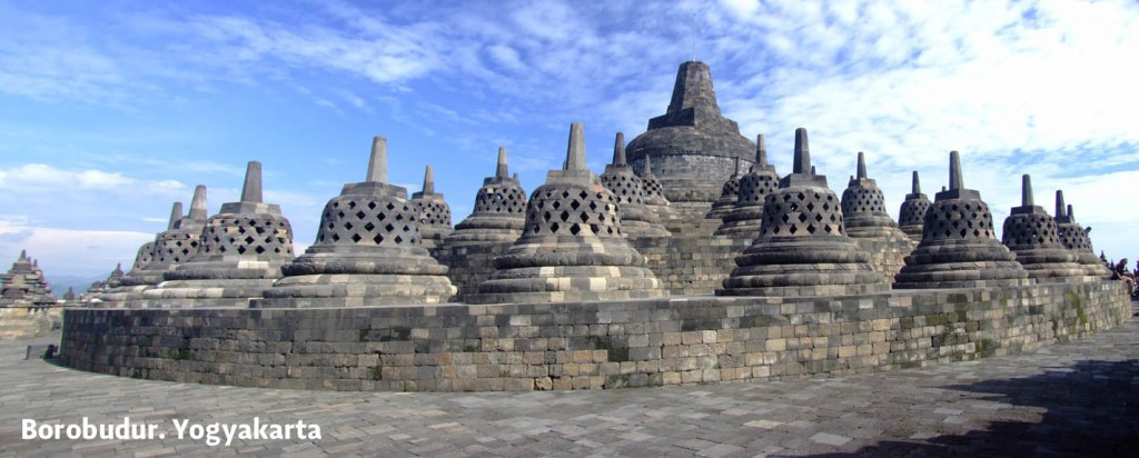 Borobudur temple panorama