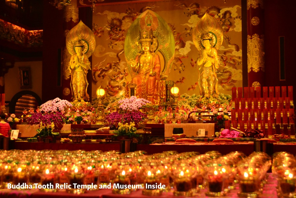 Buddha Tooth Relic Temple and Museum in Singapore. Inside