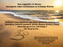 Video transliacijos su N. Gabija Wolmer !