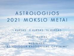Astrologijos mokslo metu pradžia 2021