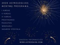 2020 astrologijos mokymų programa