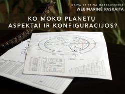 Ko moko planetų aspektai ir konfiguracijos?