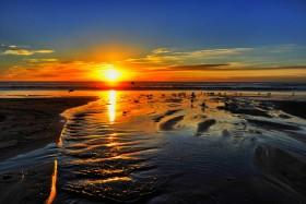 Sunset at Moonlight Beach, Encinitas - December 28, 2012